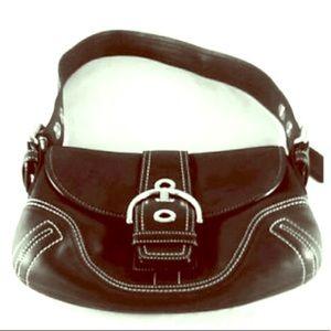 EUC Coach Soho Leather Flap Front Hobo Bag